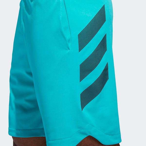 4683e57eaca6 adidas Accelerate 3-Stripes Turquoise Shorts
