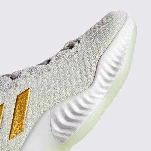4b31bc765451 adidas Pro Bounce 2018 Low - Grey Gold