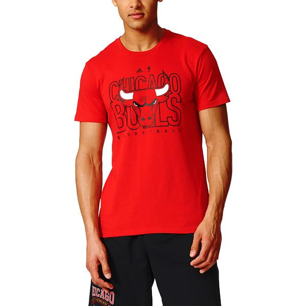 adidas NBA Chicago Bulls Red Tshirt e05deb846b8f