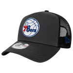 New Era NBA Philadelphia 76ers Dark Base Team A-Frame Trucker Cap | 9FORTY