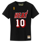 Mitchell and Ness  NBA Miami Heat Name & Number Tee | Tim Hardaway