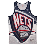 Mitchell and Ness Jumbotron Sublimated Tank | New Jersey Nets