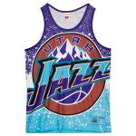 Mitchell and Ness Jumbotron Sublimated Tank | Utah Jazz