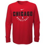 Long Sleeve Nike kids shirt NBA Chicago Bulls