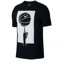 T-Shirt Nike Dri-FIT Spinning Ball Black