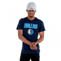 New Era NBA Dallas Mavericks Logo Blue Tee