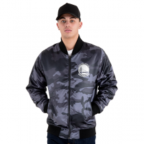 Casaco New Era Golden State Warriors Camo Sateen Bomber