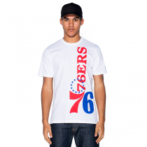 New Era NBA Philadelphia 76ers Wordmark Logo Tee