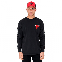 New Era Chicago Bulls Team Long Sleeve Tee