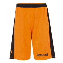 Spalding Essential Reversible Orange Black Shorts
