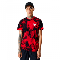 New Era Chicago Bulls NBA All Over Error Print T-Shirt
