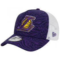 New Era 9FORTY Los Angeles Lakers A-Frame Trucker Hook Cap