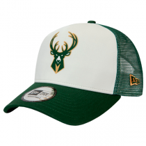 New Era Milwaukee Bucks Team Colour Block 9FORTY A-Frame Trucker Cap