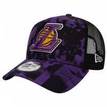 New Era NBA Los Angeles Lakers Error Print A-Frame Trucker Cap | 9FORTY