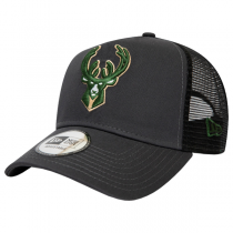Gorra New Era NBA Milwaukee Bucks Dark Base Team A-Frame Trucker | 9FORTY