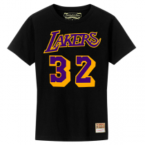 Mitchell and Ness NBA LA Lakers Name & Number Hardwood Classics Edition Tee | Magic Johnson