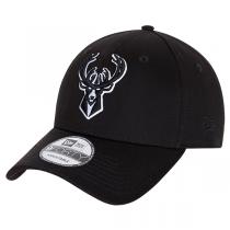 New Era NBA Milwaukee Bucks Black Base Snapback Cap | 9FORTY