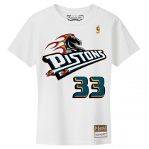 M&N NBA Detroit Pistons Name & Number Hardwood Classics Edition Tee | Grant Hill