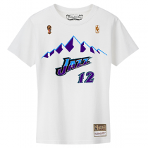 M&N NBA ‎Utah Jazz Name & Number Hardwood Classics Edition Tee | John Stockton