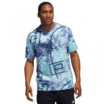 T-shirt adidas Throwback Allover Print | Crew Navy