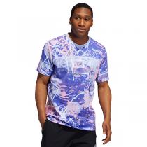 adidas Throwback Allover Print T-shirt | Bright Blue