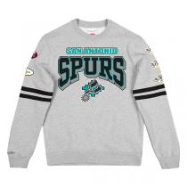Mitchell and Ness All Over Print Fleece Crew Sweater | San Antonio Spurs
