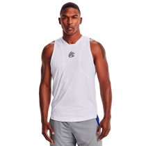 Under Armour Stephen Curry Performance Tank | White