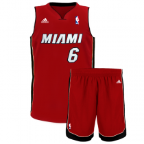 adidas NBA LeBron James Miami Heat Youth Replica