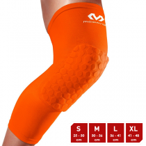 McDavid Hexforce HexPad Extended Leg Bright Orange Sleeves
