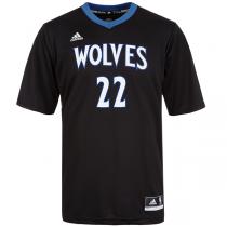 adidas Andrew Wiggins Minnesota Timberwolves Sleeved Jersey