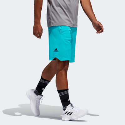 adidas Accelerate 3-Stripes Turquoise Shorts
