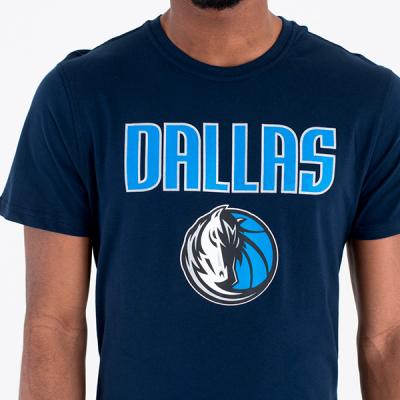 New Era NBA Dallas Mavericks Logo Blue Tee