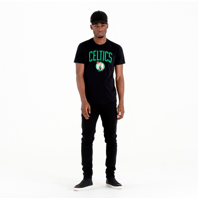 New Era NBA Boston Celtics Logo Black T-shirt