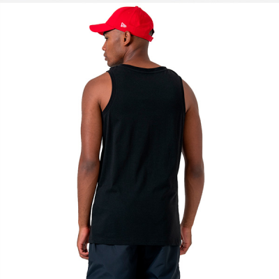 New Era NBA Chicago Bulls Logo Black Tank