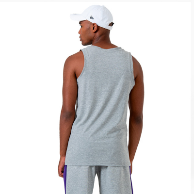 New Era NBA LA Lakers Logo Grey Tank