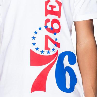 New Era NBA Philadelphia 76ers Wordmark Logo Tee