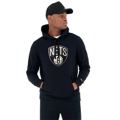 New Era NBA Brooklyn Nets Tip Off Black Pullover Hoodie