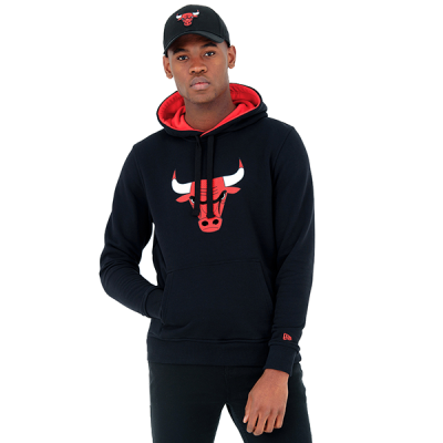 New Era NBA Chicago Bulls Tip Off Black Pullover Hoodie