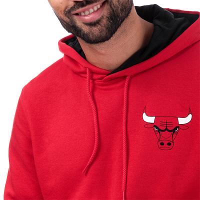 New Era Chicago Bulls Stripe Piping Hoodie