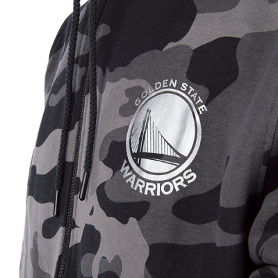 New Era Golden State Warriors Fleece Camo Gray HoodieNew Era Golden State Warriors Fleece Camo Gray Hoodie