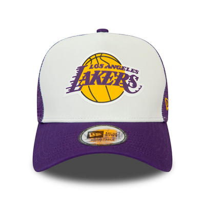 Boné New Era Los Angeles Lakers Team Color Block 9FORTY A-Frame Trucker