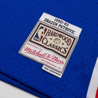 Drazen Petrovic 1992-93 New Jersey Nets Mitchell & Ness Soul Swingman Jersey