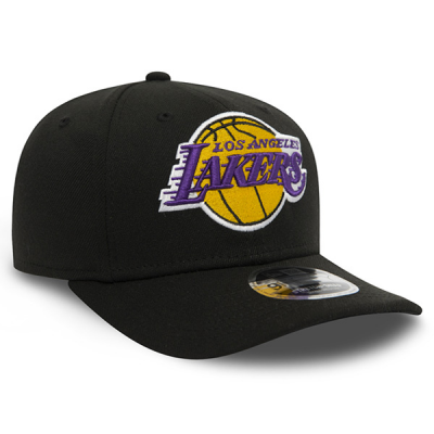 New Era NBA Los Angeles Lakers Black Stretch Snapback 9FIFTY Cap