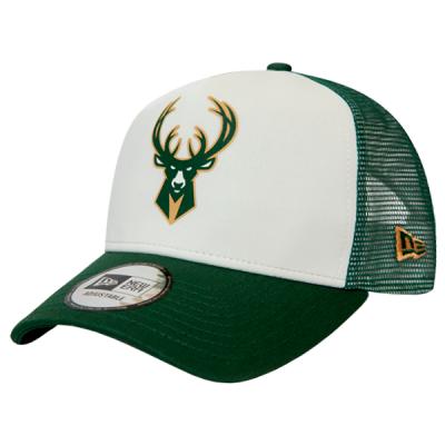 New Era Milwaukee Bucks Team Colour Block 9FORTY A-Frame Trucker Cap