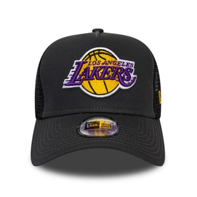 New Era NBA Los Angeles Lakers Dark Base Team A-Frame Trucker Cap | 9FORTY