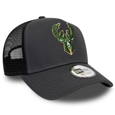 New Era NBA Milwaukee Bucks Dark Base Team A-Frame Trucker Cap | 9FORTY