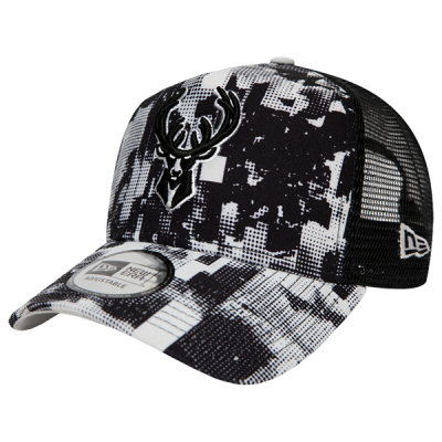 New Era NBA Milwaukee Bucks Error Print A-Frame Trucker Cap | 9FORTY