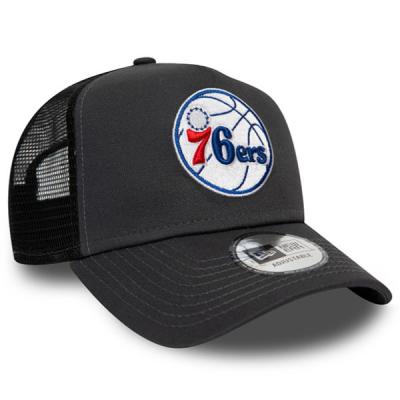 New Era NBA Philadelphia 76ers Dark Base Team A-Frame Trucker Cap | 9FORTY