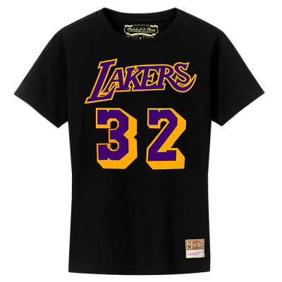 Mitchell and Ness NBA LA Lakers Name & Number Hardwood Classics Edition Tee | Magic Johnson