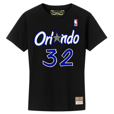 Mitchell and Ness NBA Orlando Magic Name & Number Hardwood Classics Edition Tee | Shaquille O'Neal